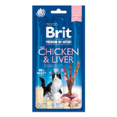 BRIT Premium by Nature Cat Sticks with Chicken & Liver 3ks