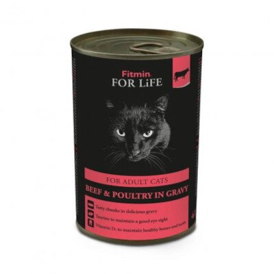 FITMIN cat For Life Adult Beef & Poultry im gravy 415g