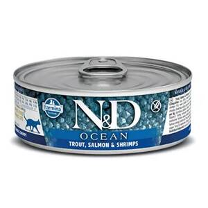 N&D cat Ocean Trout & Salmon & Shrimps konzerva 80 g