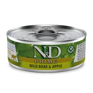 N&D cat Prime Wild Boar & Apple konzerva 80 g