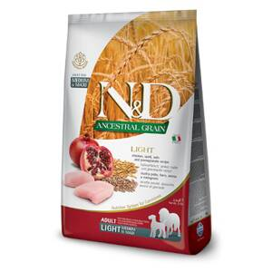 N&D dog AG Adult Medium & Maxi Light Chicken, Spelt, Oats & Pomegranate