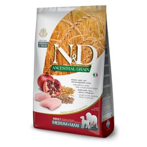 N&D dog AG Adult Medium & Maxi Chicken, Spelt, Oats & Pomegranate