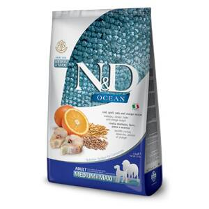 N&D dog Ocean Adult medium/maxi Codfish, Spelt, Oats and Orange