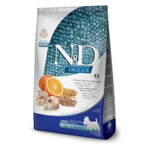 N&D dog Ocean Adult mini Codfish, Spelt, Oats and Orange
