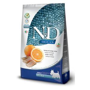 N&D dog Ocean Adult mini Herring and Orange 2,5kg